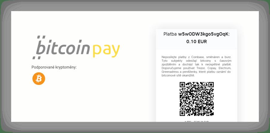 přijímat bitcoin bitcoinpay