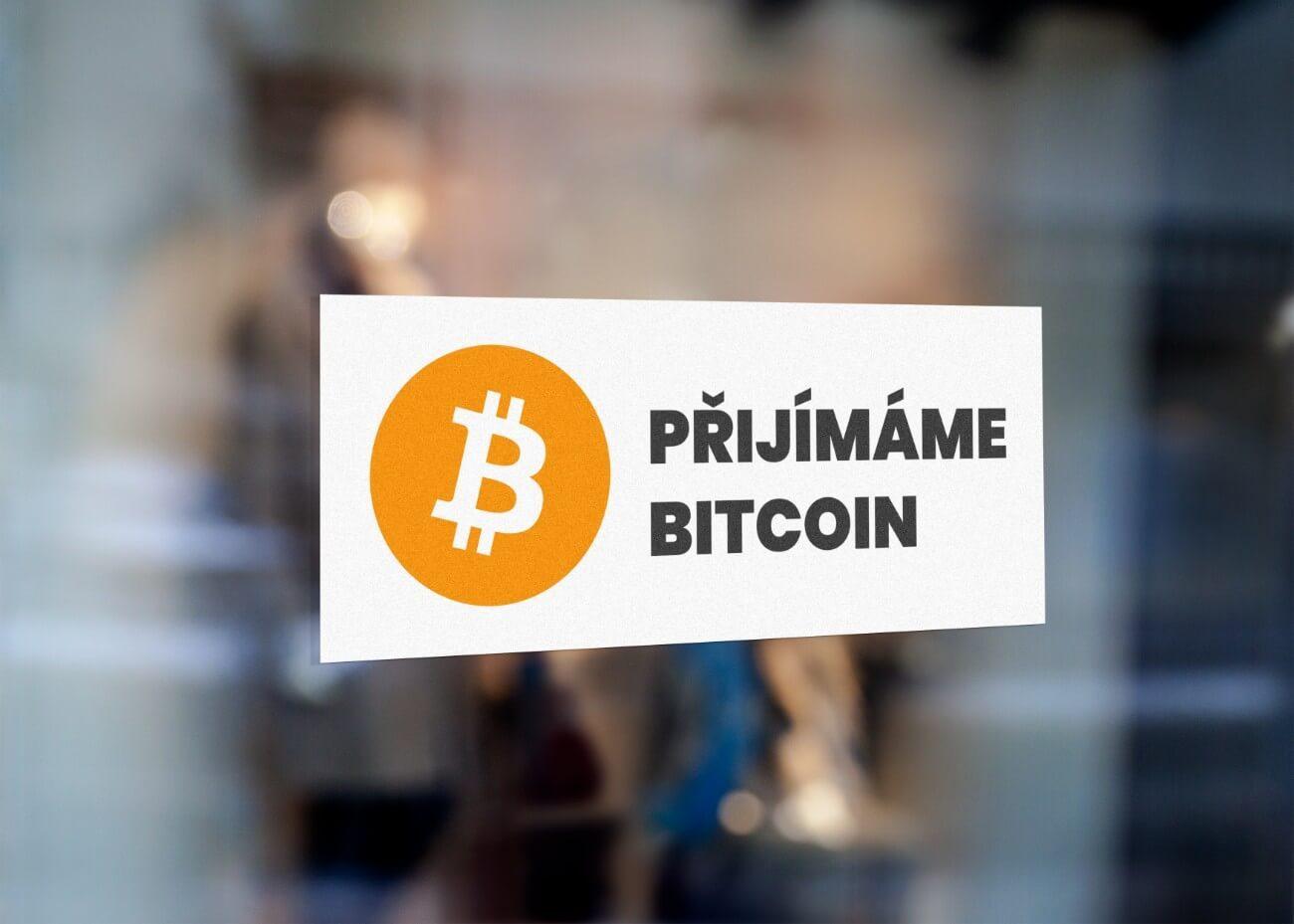 samolepka bitcoin zde přijímáme bitcoin